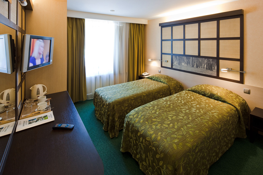 Вместительный стандарт двухместный в гостинице Аэротель